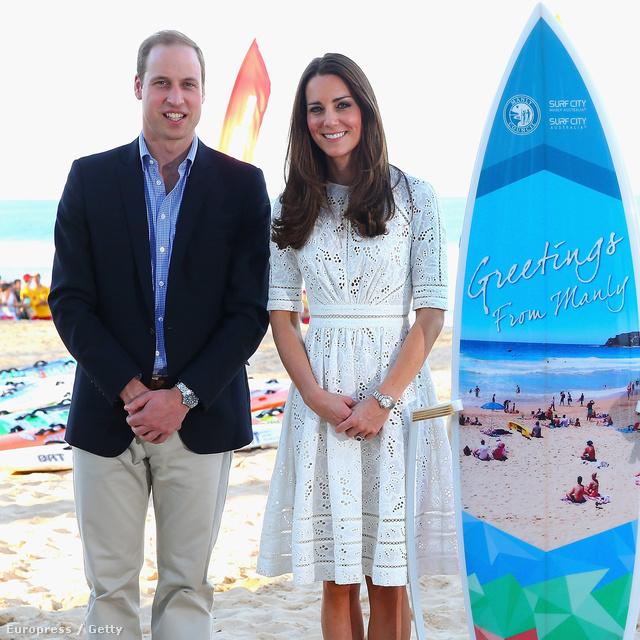 Április 18-án megmutatta Katalin, hogy megy egy hercegné strandra!