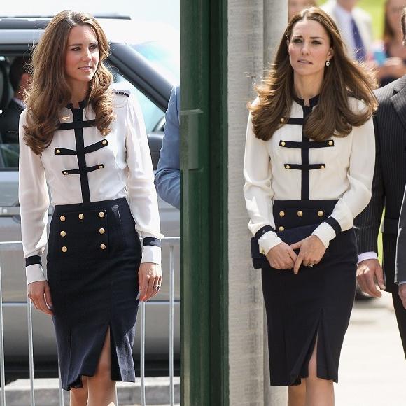 Egy olyan Alexander McQueen ruhában, amit már három évvel korábban is viselt! Ez igazán jellemző a hercegnére.