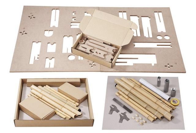 A 2015 februárjától kapható, egyszerűen egymásba illeszthető alkatrészek, bambusz vázak, rozsdamentes acélból készült darabok, alumínium konzolok és fém dróttal megerősített kiegészítők összerakásához semmiféle mérnöki szaktudás illetve gép használata nem szükségeltetik.