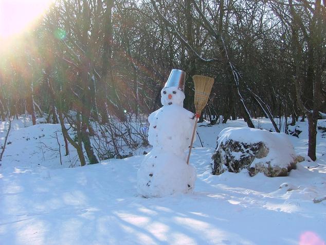 Hóember a Som-hegyen