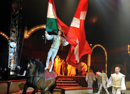 Cirkuszi lovas akrobatika