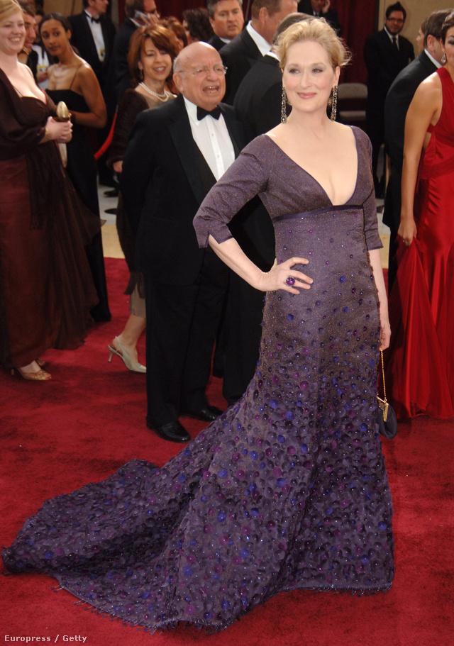 Egy mélyen dekoltált Rogelio Velasco estélyiben érkezett a 2006-os Oscarra.