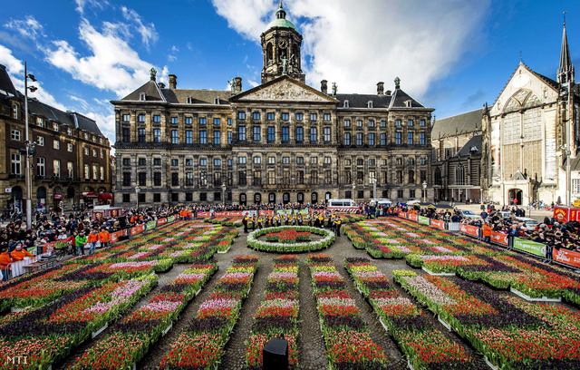 Virágba borult Amszterdam főtere