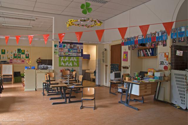 Osztályterem egy amsterdami iskolában