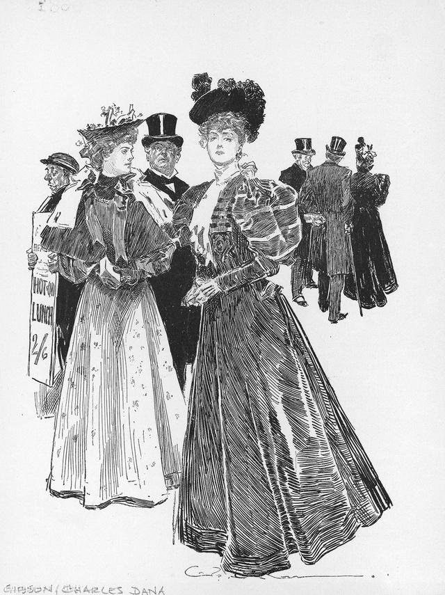 1910-es évek: Charles Dana Gibson egyik illusztrációja