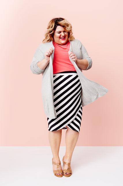 Az egyik legismertebb plus-size blogger-modell, Nicolette Mason is helyet kapott a Target kampányában.