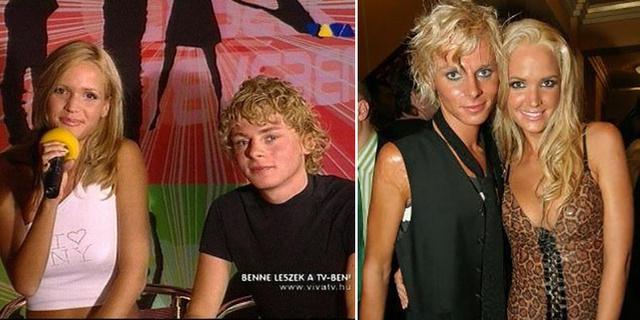 Zimány Lindával 2002-ben, és 2004-ben. A Viva válogatásán 70, a második képen 55 kiló voltam.