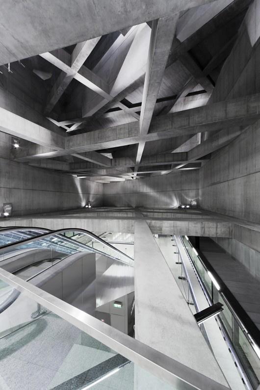 A sporaarchitects 4-es metro projectje Budapesten.