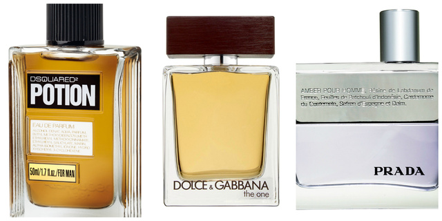 DSquared Potion, Dolce & Gabbana The One, Prada Amber