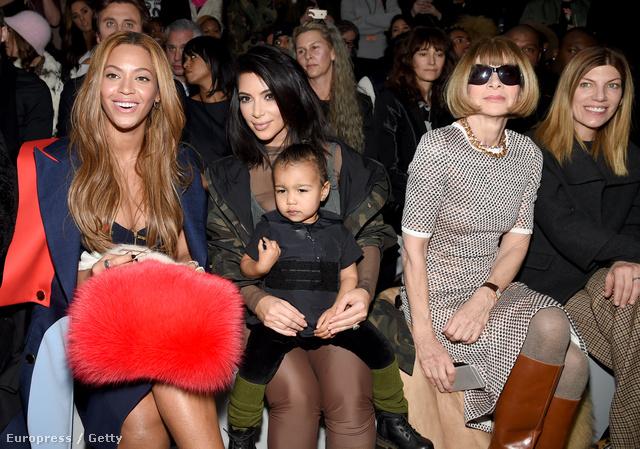 Beyoncé, Kim Kardashian (ölében North West) és Anna Wintour. Ez már magában garantál 5 millió tweetet.