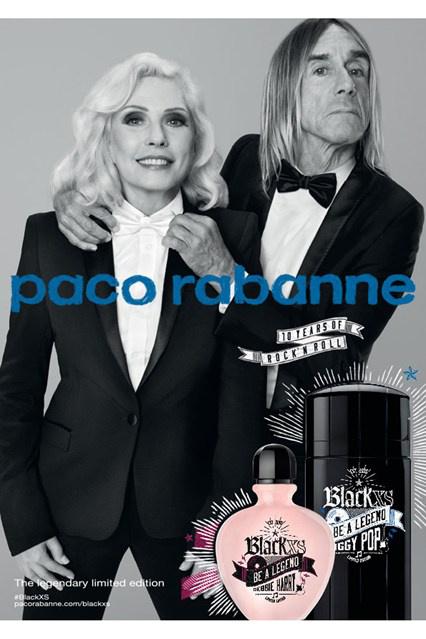 Összeillő páros, Blondie és Iggy Pop a Paco Rabanne kampányában.