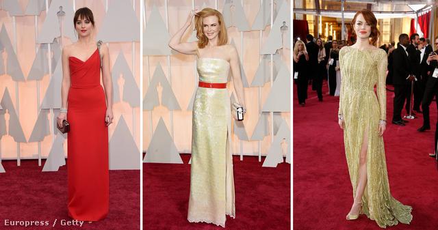 Dakota Johnson szerényen, de tisztességesen felöltözött, Nicole Kidman piros öve levett a lábunkról, Emma Stone pedig a világ legrosszabb színét viseli méltósággal.