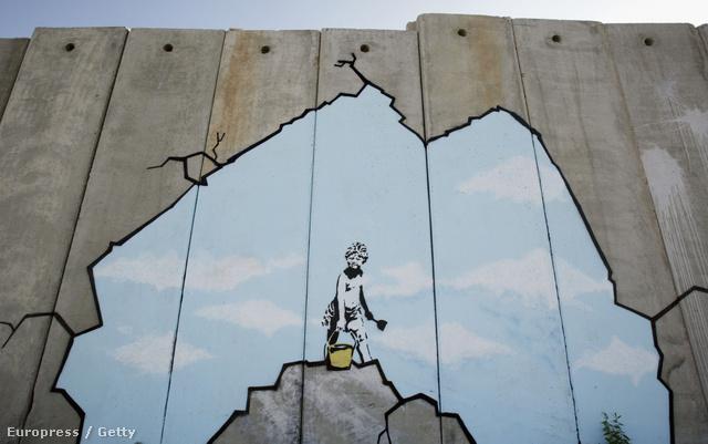 Banksy Ciszjordániában járt