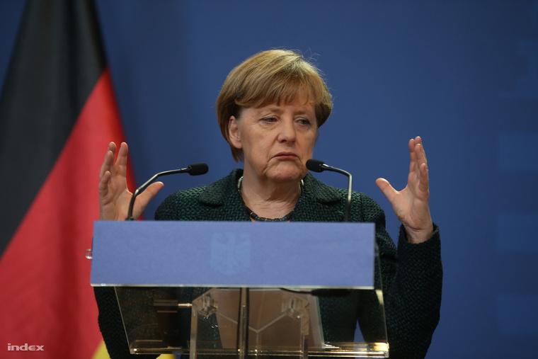 Angela Merkel Budapesten