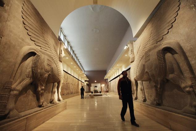 A bagdadi múzeumban az egész emberiség történetének értékes kincseit őrzik