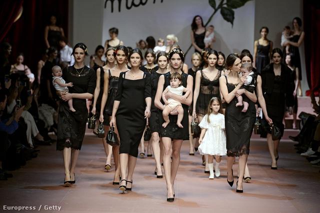 Ismét nagy parádé volt a Dolce & Gabbana kifutóján.