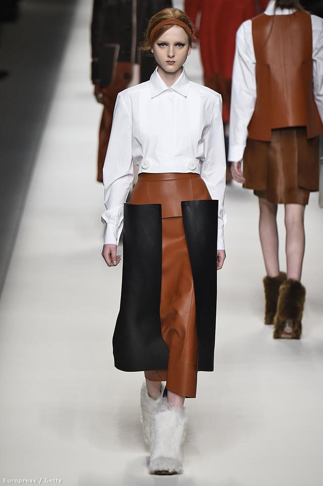 """""""Kellemes agresszivitás"""" – mondta mosolyogva Karl Lagerfeld a legújabb Fendi kollekcióról."""