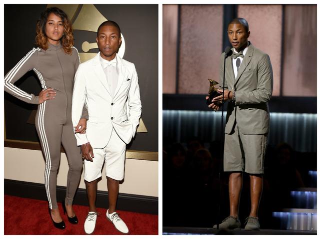 Pharrel Williams volt az első híres ember, aki bevetette a Flashback öltönyt, mondjuk elég érthetetlen szituációban, a Grammy gálán, ahol borítékolható volt, hogy sokan fogják fényképezni.