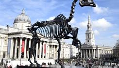 Tőzsdéző lócsontváz a Trafalgar téren