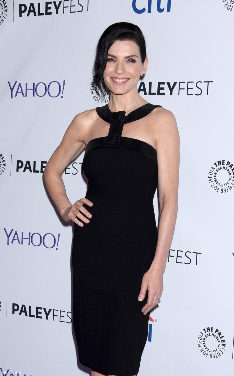 Julianna Marguiles a Férjem védelmében sorozat stábjával vett részt a Los Angeles-i PaleyFest-en. De nem ez a lényeg, hanem az, hogy a színésznő egyszerűen nem öregszik.