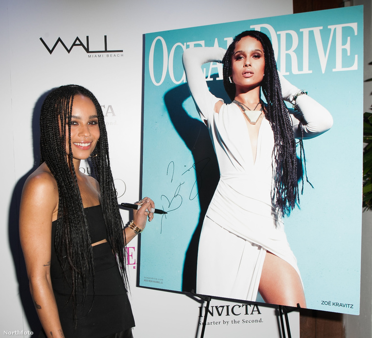 Ez a kép ugyanazon a napon, vagyis március 8-án készült róla, annak örömére, hogy az Ocean Drive magazin címlapjára került.