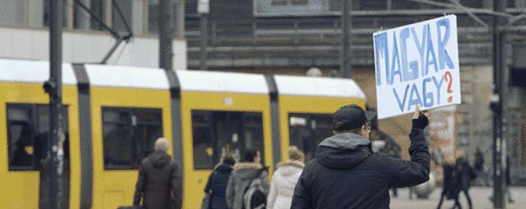 Ricsi, a készülő Inside Berlin egyik szereplője - jelenet a filmből