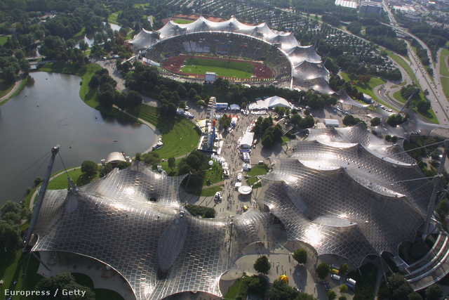 Az 1972-es müncheni olimpiára megépített Olimpiai Park.
