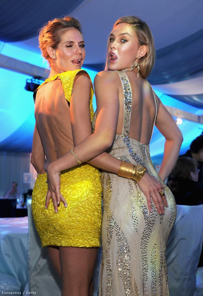 Két fenék: Gigi Hadid, Heidi Klum