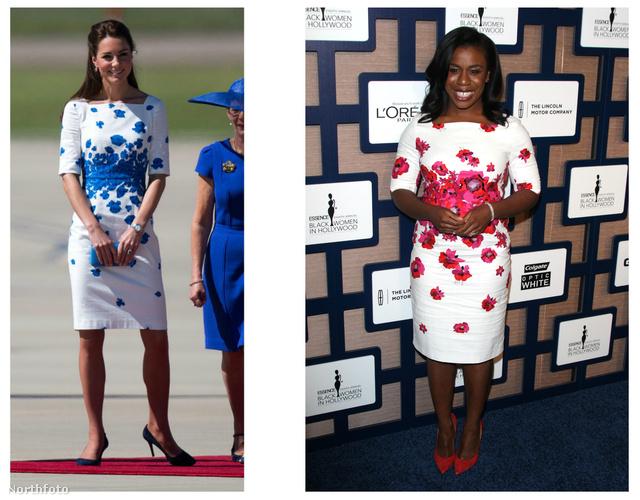 Katalint még tavaly áprilisban fotózták le ebben a kék-fehér virágos szettben a reptéren. Hogy miért lett most újra érdekes? Mert Uzo Aduba ennek a rózsaszín párját viselte egy színesbőrű nőknek szervezett eseményen.