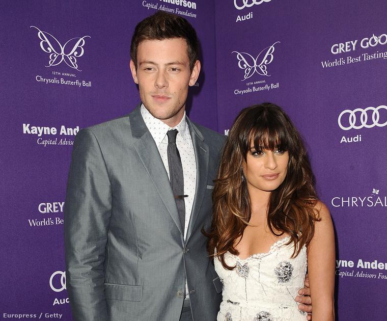 Lea Michele és Corey Monteith ezen a bizonyos utolsó nyilvános eseményen 2013-ban. Eddigre a Glee-ben is összejöttek meg az életben is
