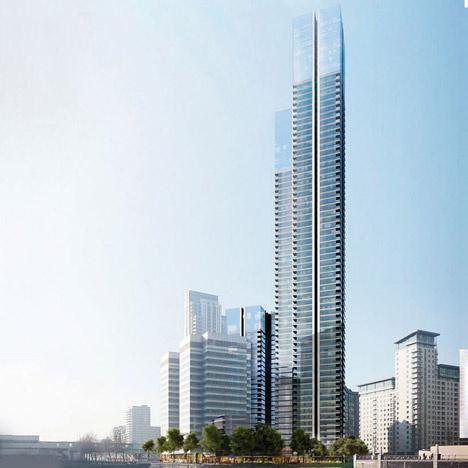 A város egyik legfontosabb üzleti és bevásárló negyedében, a Kelet-Londoni Canary Wharfon található az Egyesült Királyság legmagasabb épülete, egy 73 szintes felhőkarcoló, ami mellé ezúttal a Foster + Partners tervez egy 36 emeletes tornyot, melyben összesen 900 új lakást kap majd helyet.
