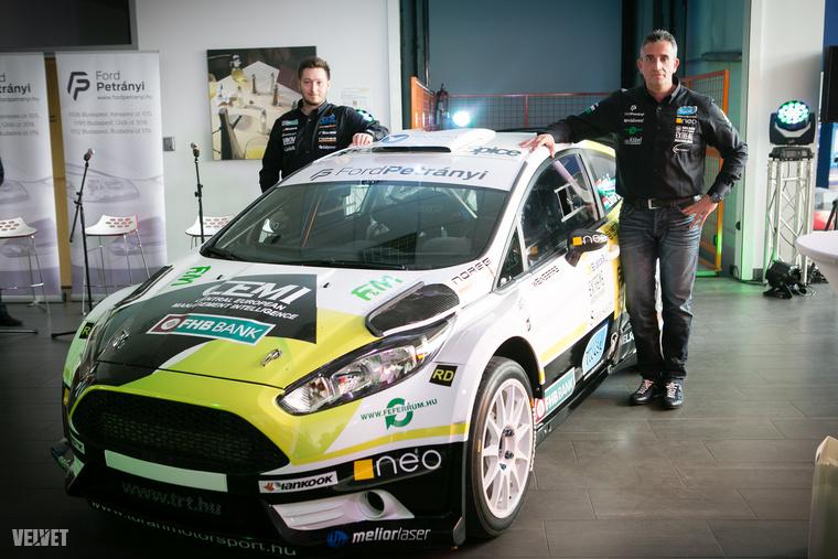 Hétfőn mutatták be ugyanis Turán Frigyes raliversenyző új autóját...