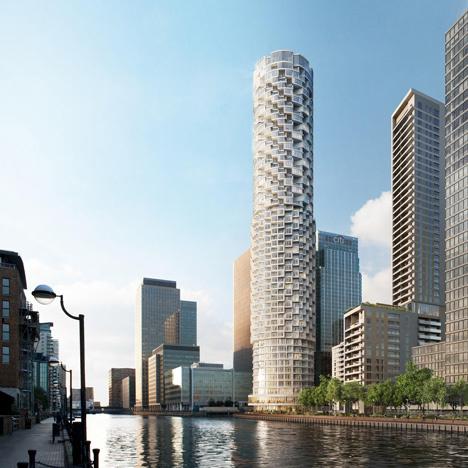 A svájci sztárépítészek a Foster + Partnershez hasonlóan a Canary Wharf kiépítésében vesznek részt, ők egy látványos henger formájú felhőkarcolóval gazdagítják majd London keleti részét, ami egyike annak az öt új épületnek, amit a Wood Wharf néven futó fejlesztések keretében adnak majd át.