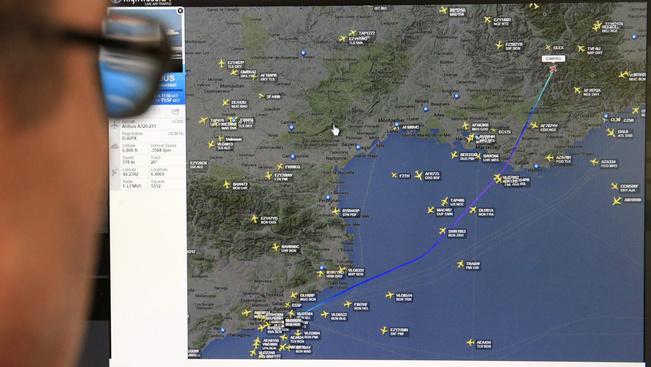 Az Airbus 320-as útvonala és eltűnési helye