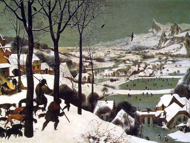 Peter Bruegel - Vadászok a hóban Fotó: Wikipedia