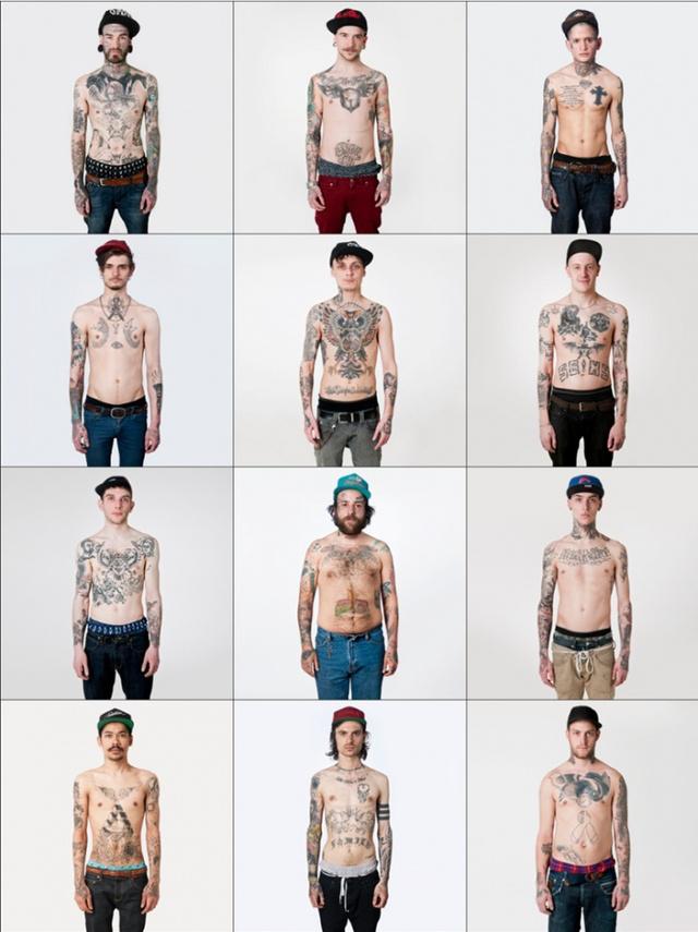 Rotterdami és berlini tetovált srácok 2013-ban.