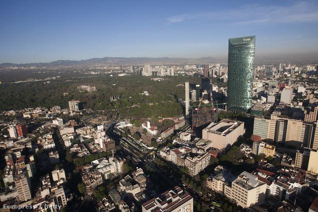 Mexikóváros egy része légifelvételen