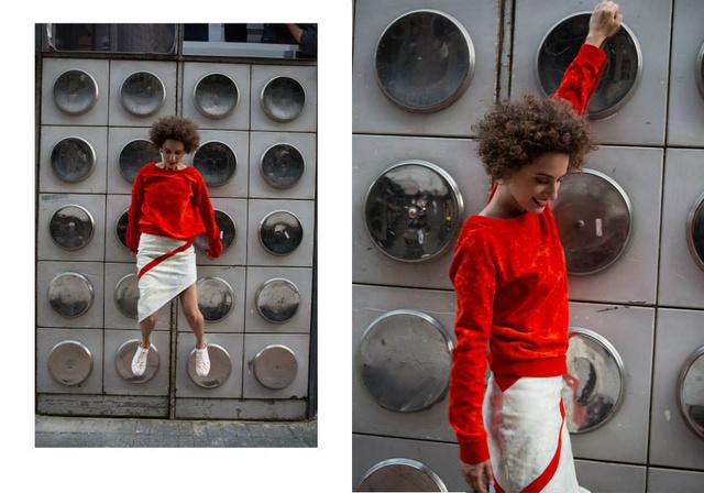 Aki meglepő és izgalmas városi környezetben, Budapesten és Londonban fotózta le a tervezők által felkért modelleket, Catherine Y. Serranót, Alessia De Pasqualét, Kei Yoshinót és Uhercsik Brigit.