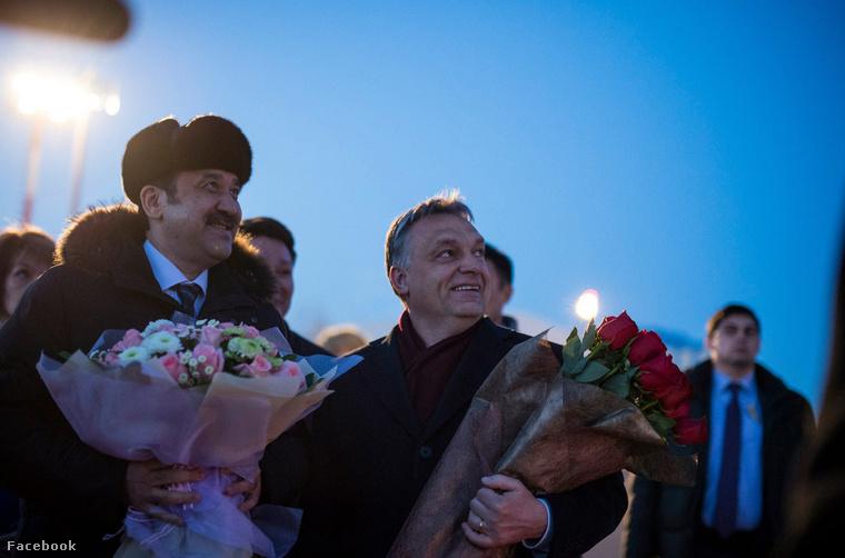 Karim Maszimov kazah kormányfő és Orbán Viktor