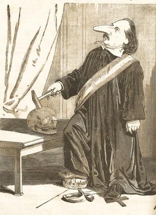 Jankó János Pulszky karikatúrája a Borsszem Jankóban