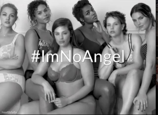 A Lane Bryant legújabb, #ImNoAngel című kampányában telt modellek pózolnak fehérneműben, azt hirdetve, hogy ők nem angyalok