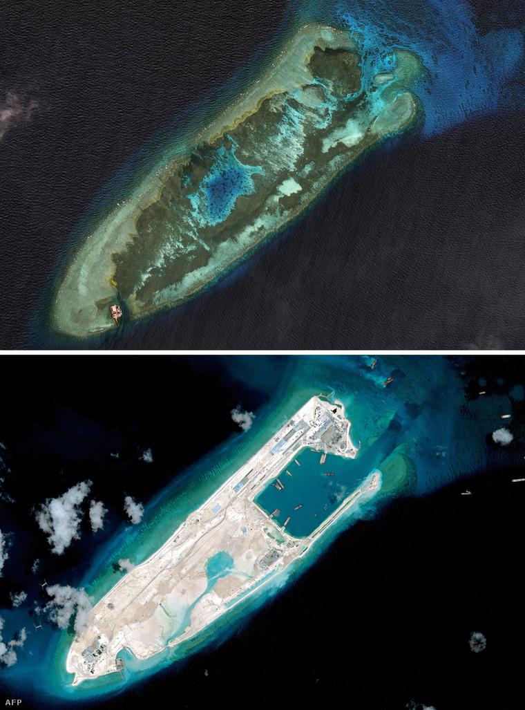 A Spratly-szigetek másik zátonya 2006 márciusában és 2015 áprilisában
