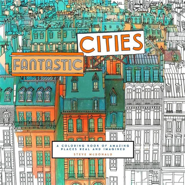 A New York Times által is felkapott Fantastic Cities néven futó kifestő értelemszerűen a városiakat és az urbanisztika iránt érdeklődőket szólítja meg.