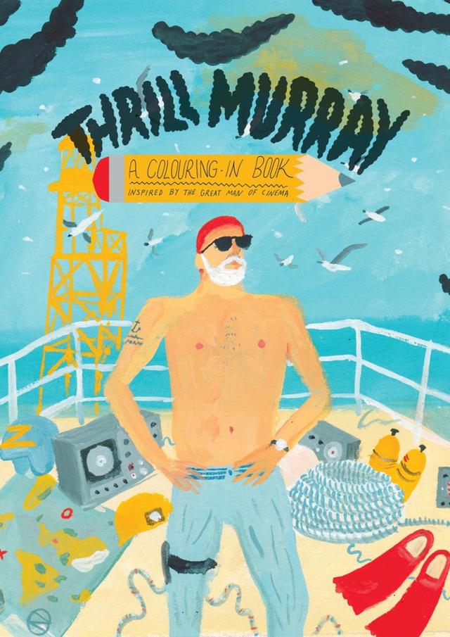 Bill Murray sem úszta meg a kifestőkönyvesítést,akinek filmbeli karaktereit Nicholas Stevenson, Bridget Meyne, Mike Killkelly és Logan Fitzpatrick dolgozta fel Thrill Murray névre keresztelt 24 illusztrációt tartalmazó kifestőjében, amiért 13.22 dollárt (kb.3675 forint) kérnek