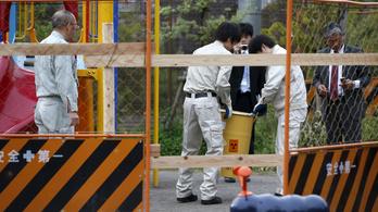 Magas sugárzás egy tokiói játszótérnél