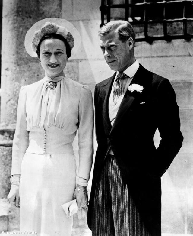 A windsori herceg esküvője 1936-ban Franciaországban.