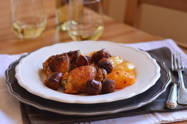 kolbászos csirke
