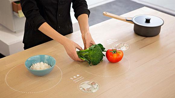 A jövő asztala felismeri majd az ételt.