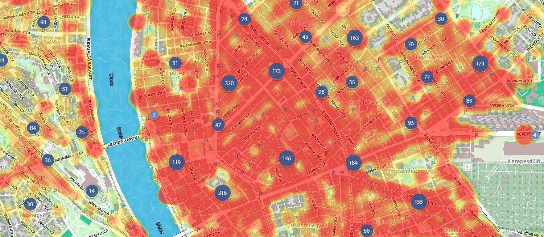 budapest bűnügyi térkép Index   Urbanista   Te mennyire veszélyes környéken laksz? Nézd  budapest bűnügyi térkép