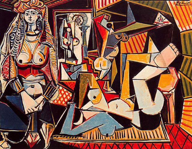 Íme Picasso Algériai nők című festménye.